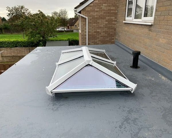 Flat Roof with Sky Light