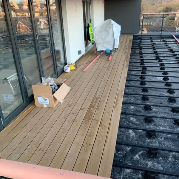 Decking being layed