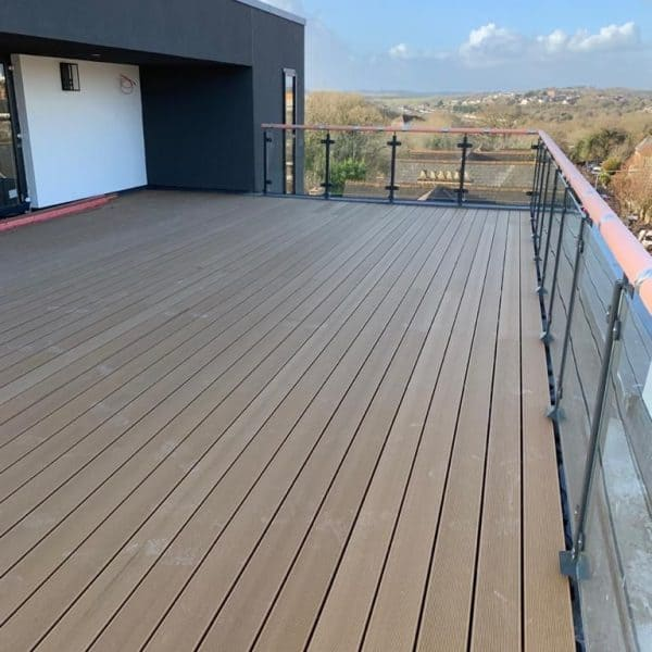 Decking looking over hills