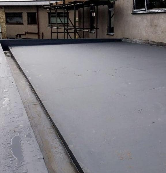 Flat Roof under construction