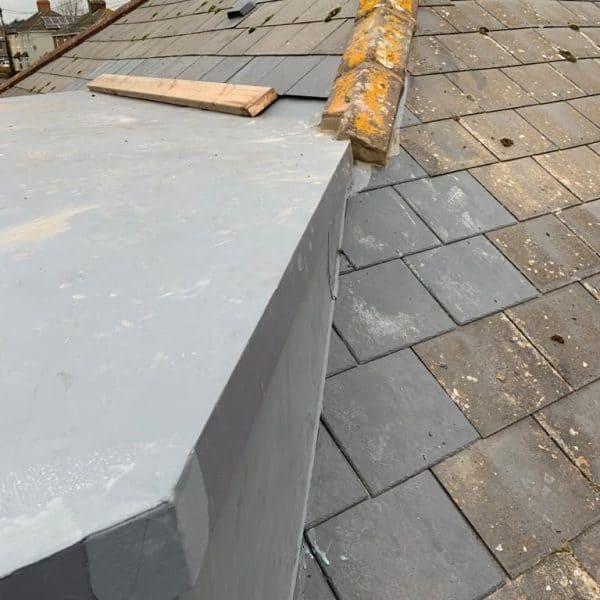 Flat roof on regular tiled roof