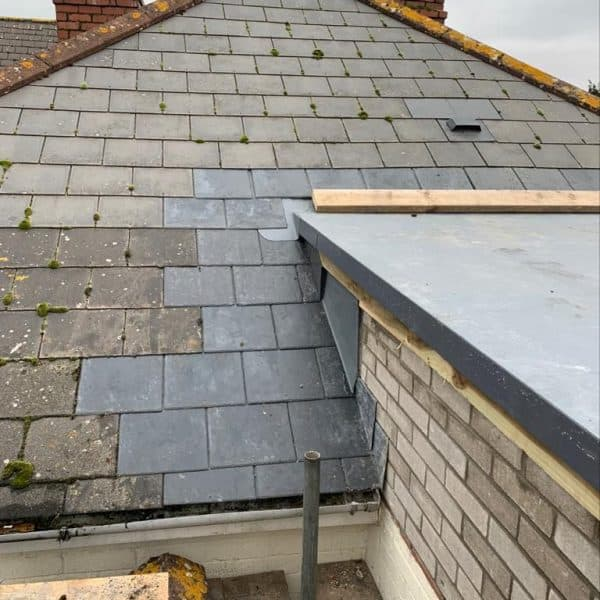 Flat roof and regular roof