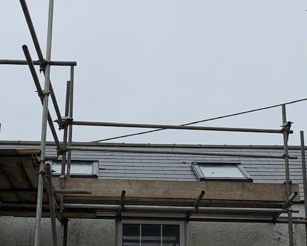 Roof with Scaffolding